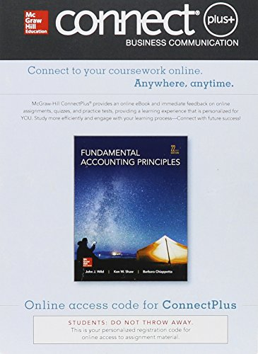 Connect Plus Accounting with LearnSmart 2 Semester: Wild, John