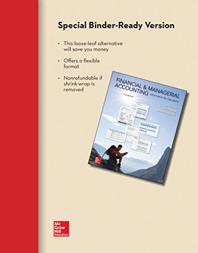 9780077633134: Loose-Leaf for Financial and Managerial Accounting