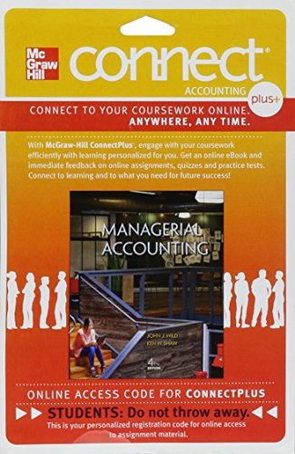 9780077633240: Connect Plus Accounting with LearnSmart 1 Semester Access Card for Managerial Accounting