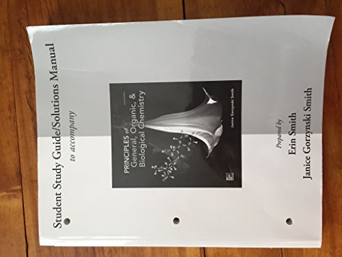 9780077633677: Student Study Guide/solutions Manual to Accompany Principles of General, Organic, & Biological Chemistry