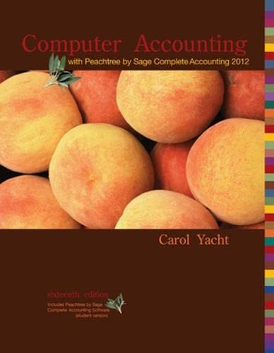 9780077634025: Computer Accounting with Peachtree Complete by Sage Complete Accounting 2012 CD