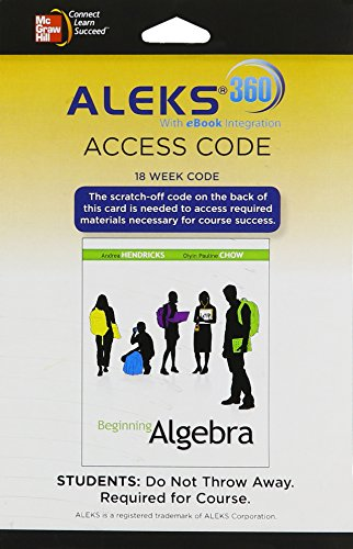 9780077634827: ALEKS 360 Access Card (18 weeks) for Beginning Algebra