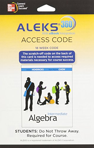 9780077634926: ALEKS 360 Access Card (18 weeks) for Intermediate Algebra