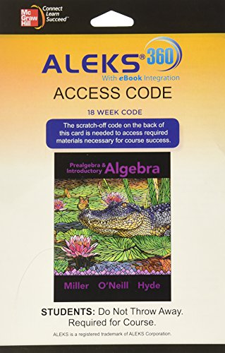 9780077635107: ALEKS 360 Access Card (18 weeks) for Prealgebra & Introductory Algebra
