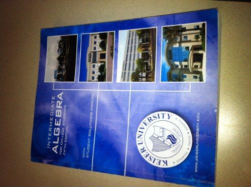 9780077635220: Intermediate Algebra (For College Students, Keiser University)