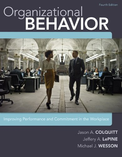 9780077635596: Organizational Behavior: Improving Performance and Commitment in the Workplace, 4th Edition