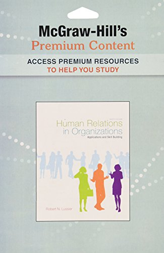 9780077636388: Premium Content Code Card for Human Relations in Organizations