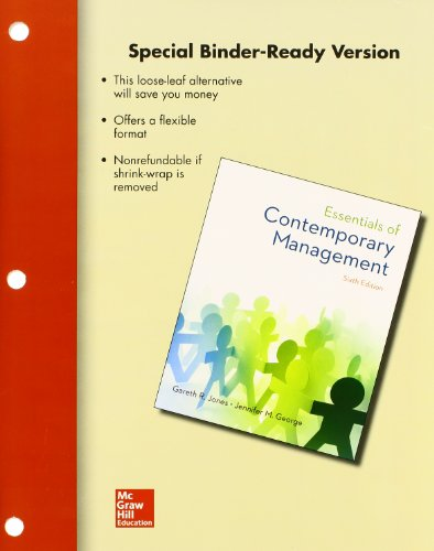 9780077636500: Loose-Leaf for Essentials of Contemporary Management