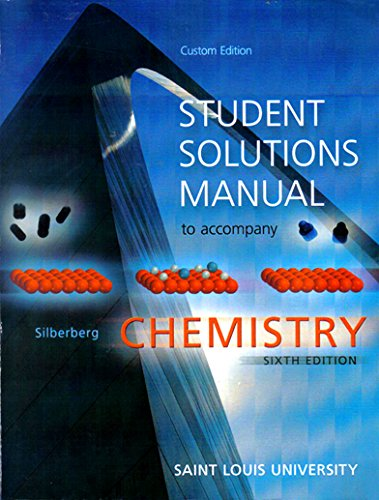 9780077636876: Student Solutions Manual to accompany Chemistry - Saint Louis University