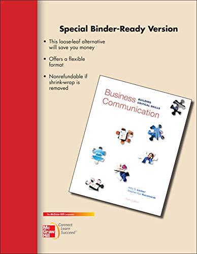 9780077637194: Loose-Leaf Business Communication: Building Critical Skills