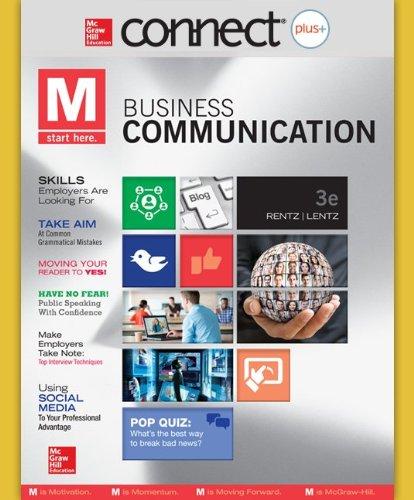 9780077637248: Connect Plus Business Communication 1 Semester Access Card for Rentz Business Communication