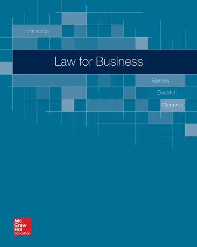 9780077638986: Loose-Leaf for Barnes, Law for Business 12e