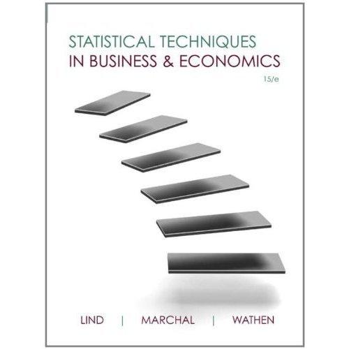 9780077639136: Statistical Techniques in Business & Economics 15/e