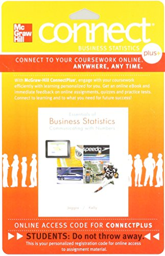 9780077639501: Connect 1-Semester Access Card for Essentials of Business Statistics