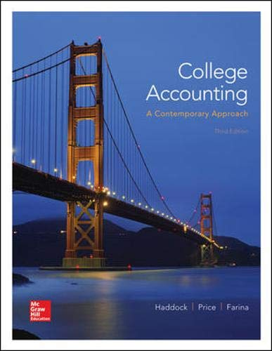 College Accounting (A Contemporary Approach) - Standalone: Haddock Jr. Professor,