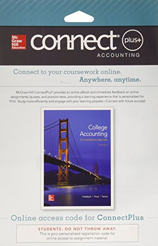 9780077639761: Connect Plus Accounting with LearnSmart 1 Semester Access Card for College Accounting (A Contemporary Approach)