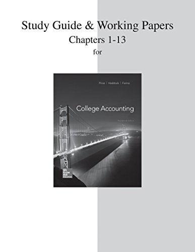 9780077639884: Study Guide and Working Papers for College Accounting  (Chapters 1-13)