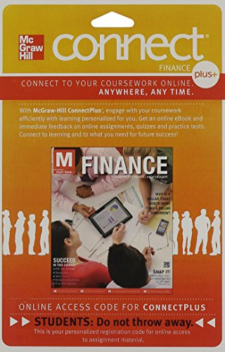 9780077640927: Connect 1-Semester Access Card to accompany M: Finance