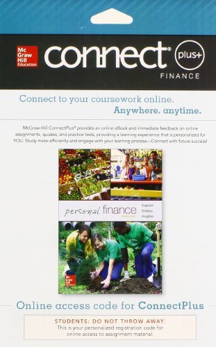 9780077640996: Connect 1-Semester Access Card for Personal Finance