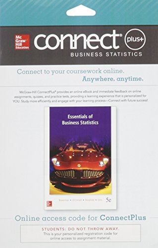 9780077641184: Connect Plus Business Statistics 1 Semester Access Card for Essentials of Business Statistics