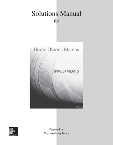 9780077641917: Solutions Manual for Investments