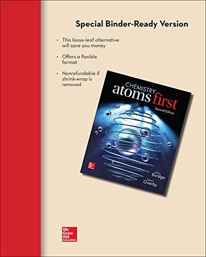 9780077646486: Loose Leaf Version for Chemistry: Atoms First