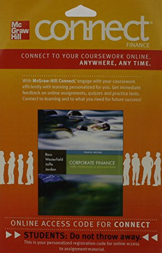 9780077650438: Connect Finance Access Card to Accompany Corporate Finance: Core Principles and Applications
