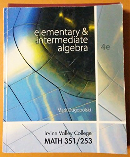 9780077652401: Elementary and Intermediate Algebra