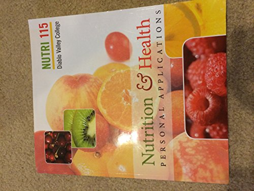 Nutrition & Health Personal Applications Diablo Valley: Wendy J. Schiff