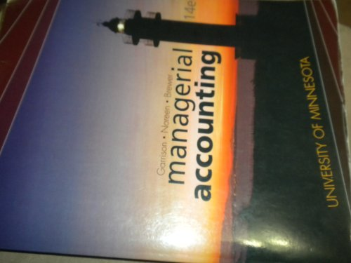 9780077654429: Managerial Accounting Custom for University of Minnesota