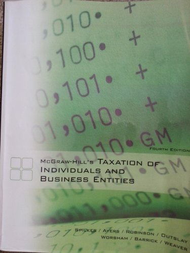 9780077655853: McGraw-Hill's Taxation of Individuals and Business Entities Fourth Edition (Learning Solutions Textbook)