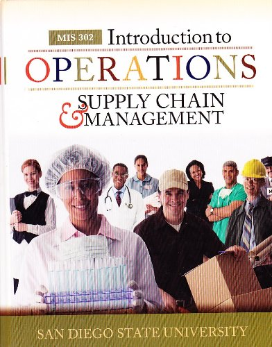 Introduction to Operations & Supply Chain Management: F. Robert Jacobs;