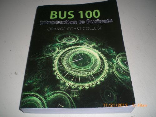 9780077664589: Introduction to Business for BUS 100: Custom Edition for Orange Coast College