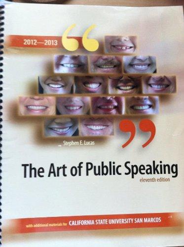 9780077669775: The Art of Public Speaking