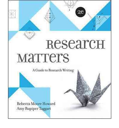 9780077670979: Research Matters: A Guide to Research Writing (Humanities/Social Sciences/Languages; 2 edition (January 24, 2012))