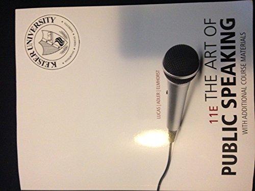 9780077672027: ART OF PUBLIC SPEAKING-TEXT >CUSTOM<