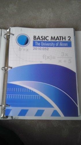 9780077673208: Basic Math 2, The University of Akron, 2010:052 (Hutchison's Beginning Algebra)