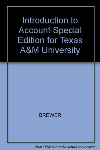 9780077675226: Introduction to Account Special Edition for Texas A&M University