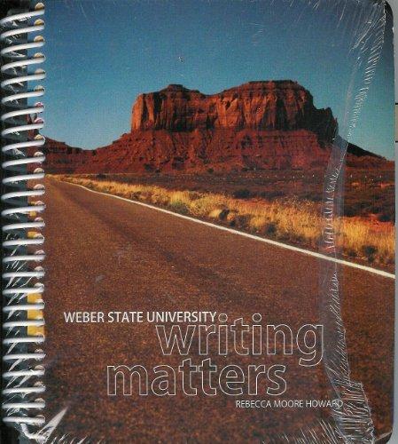 9780077676971: Weber State Writing Matters