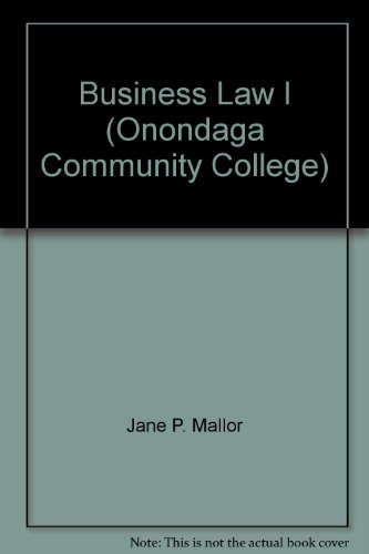 9780077678456: Business Law I (Onondaga Community College)