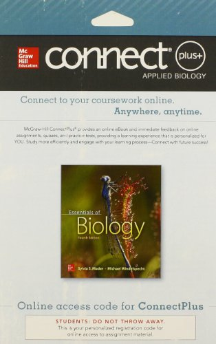 9780077681852: ESSENTIALS OF BIOLOGY-CONNECTPLUS