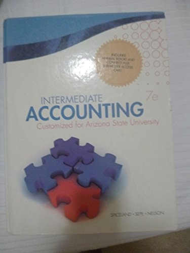 9780077681982: Intermediate Accounting - Customized for Arizona State University