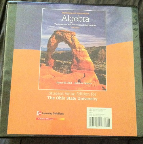 9780077682019: Beginning and Intermediate Algebra the Language and Symbolism of Mathematics