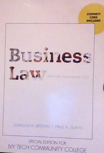 9780077682279: Business Law with UCC Applications 13edition