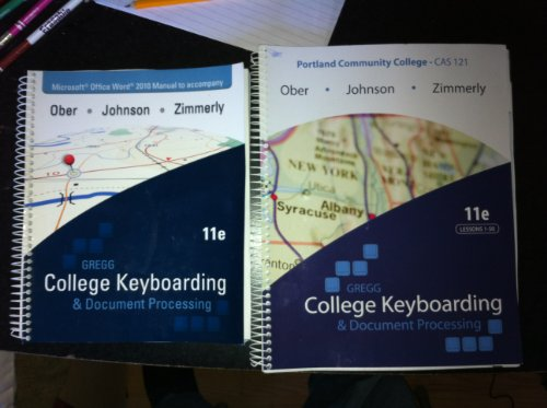 9780077684570: Gregg College keyboarding & Document Processing and Manual to accompany(Portland Community College- CAS 121)