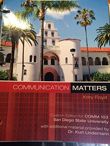 9780077688134: Communication Matters (Custom Edition for COMM 103 SDSU)