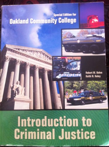 9780077688264: Introduction to Criminal Justice Special Edition for Oakland Community College