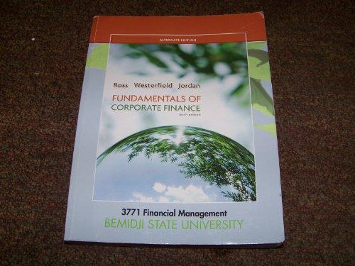 9780077692551: Fundamentals of Corporate Finance Alternate Edition: 3771 Financial Management BSU