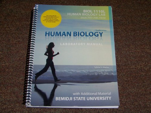 9780077693497: Human Biology Laboratory Manual: With Additional Material Bemidji State University