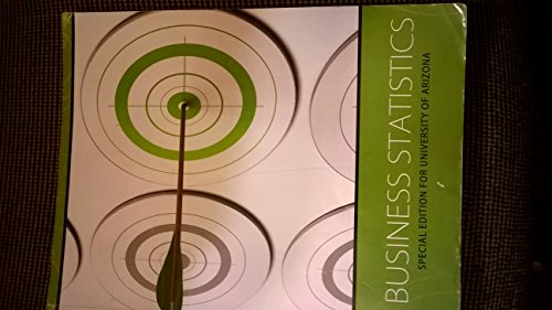 9780077693954: Business Statistics Special Edition for the University of Arizona